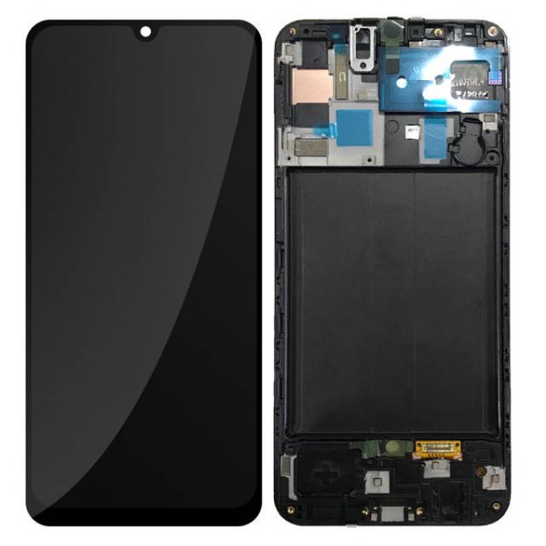 Samsung Galaxy A50 (A505F) – Originál LCD displej a dotyková plocha s rámom čierny (Service Pack)