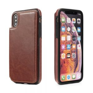 Púzdro Forcell Wallet Case – iPhone XS Max hnedé