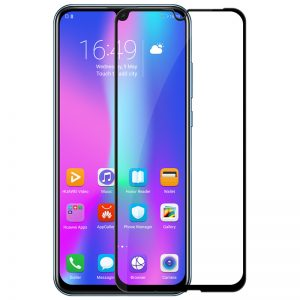 HARD Full Glue 5D ochranné tvrdené sklo – Huawei P Smart 2019 čierne #00002605
