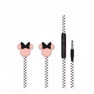 Slúchadlá Disney Minnie 3D Stereo 3,5m Jack čierno-ružové