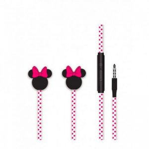 Slúchadlá Disney Minnie 3D Stereo 3,5mm Jack ružové-čierne