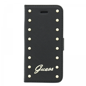 Knižka Guess Studded Folio iPhone 6/6S Plus čierna