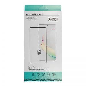 Ochranné tvrdené sklo Polymer Nano Hybrid Glass – Samsung Galaxy Note 10 Plus čierne #00002221