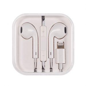 Slúchadlá MEGA BASS pre iPhone 7/8/X s Lightning konektorom biele