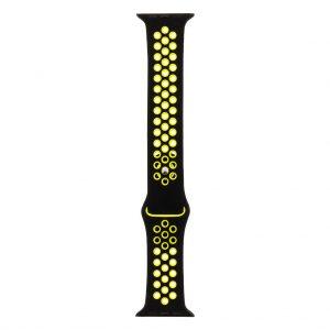 Silikónový remienok Tactical 165 Double Apple Watch 42/44mm čierno-žltý