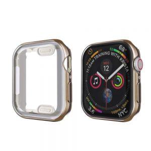 KINGMAS púzdro 360 Slim Apple Watch Series 4/5/6/SE 44mm hnedý rám CA00109E