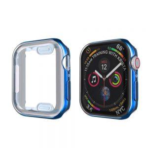 KINGMAS púzdro 360 Slim Apple Watch Series 4/5/6/SE 44mm modrý rám CA00107E