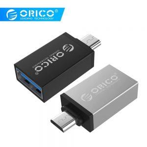 Redukcia ORICO OTG USB – Micro USB čierna