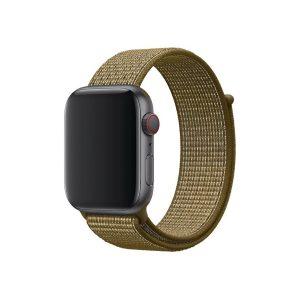 Nylonový remienok KINGMAS pre Apple Watch 42/44mm olivovo-zelená