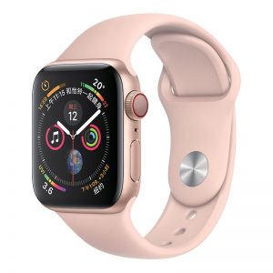 Silikónový remienok COTEetCI pre Apple Watch 42/44mm svetlo-ružový #00002618