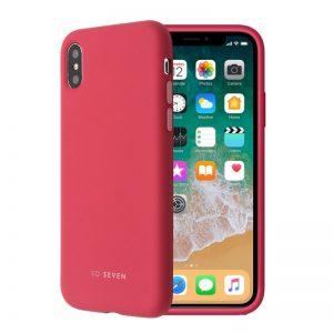 Púzdro SoSeven Smoothie iPhone X/XS tmavo-ružové
