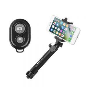 BlueStar Bluetooth selfie tyč so statívom čierna