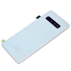 Samsung Galaxy S10 (G973F) batériový zadný kryt so sklíčkom fotoaparátu OEM (EU version) biely
