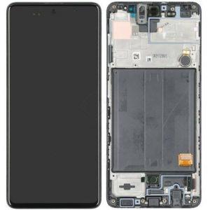 Samsung Galaxy A51 (A515F) – Originál LCD displej a dotyková plocha s rámom čierny (Service Pack)