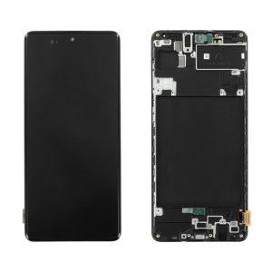 Samsung Galaxy A71 (A715F) – Originál LCD displej a dotyková plocha s rámom čierny (Service Pack)