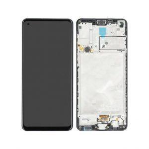 Samsung Galaxy A21s (A217F) – Originál LCD displej a dotyková plocha s rámom čierny (Service Pack)